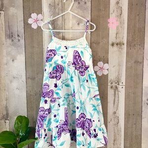 Dress Purple Floral Girls Size 8